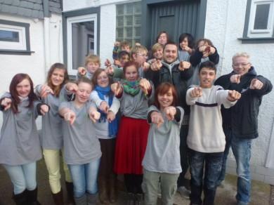 Tolle Kids singen als Promo für das EMS Projekt den 1.Thüringer Nachhaltigkeitsrap